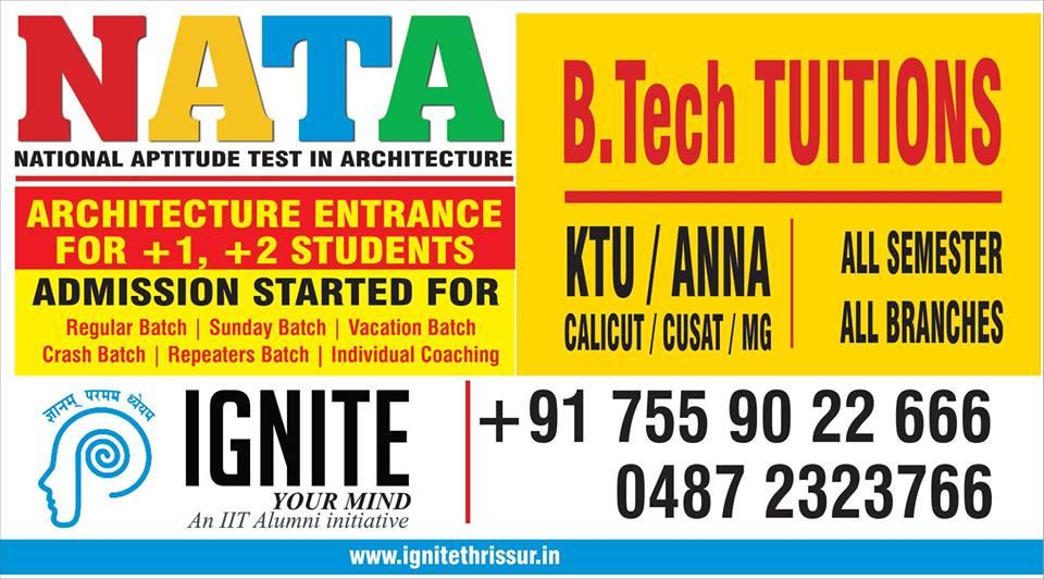 NATA coaching centre in Thrissur
