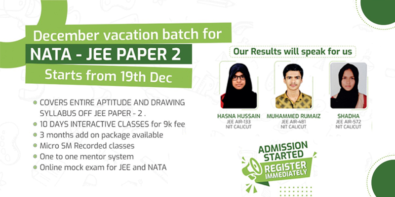 Vacation Batch for NATA – JEE Aspirants