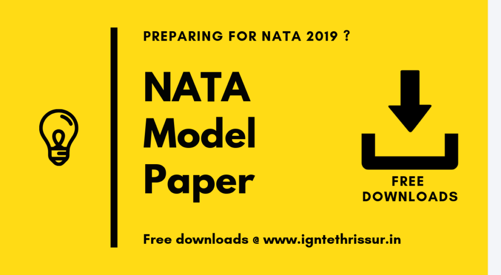 Start your preparations with NATA model papers