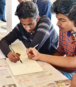 Students coaching for Nata in thrissur